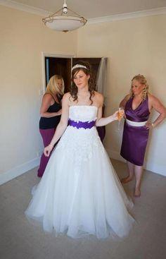 Sabrina wearing Phoenix gowns