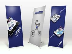 Some examples of easy to set up, light posters for agencies or trade shows.