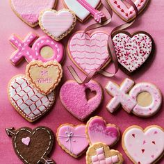 We can& think of a sweeter way to show affection than with edible valentines. Here, a food stylist offers her best valentine& day cookie decorating tips. Heart Cookie Cutter, Heart Cookies, Cut Out Cookies, Cute Cookies, Easter Cookies, Snookerdoodle Cookies, Summer Cookies, Baby Cookies, Christmas Cookies
