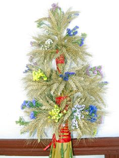 Didukh - Ukrainian Christmas decoration.
