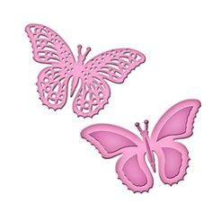 Spellbinders S2-073 Shapeabilities Die D-Lites, Flutters