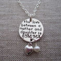 The Love Between Mother & Daughter Necklace by HipMomJewelry, $55.00