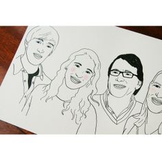 Your custom family portrait Original Print Digital by ToddBorka
