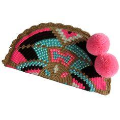 Mamacita Abanico Wayuu Clutch. Handmade and Fair Trade  Wayuu Clutches – LOMBIA & CO.   www.LombiaAndCo.com