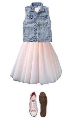 """""""Denim and tulle"""" by iknewherwhen on Polyvore featuring Abercrombie & Fitch and Converse"""