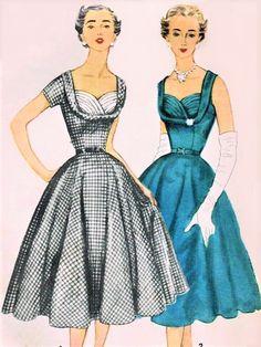 Vintage Dress Patterns, Clothing Patterns, Vintage Dresses, Vintage Outfits, Skirt Patterns, Coat Patterns, Blouse Patterns, Vintage Clothing, Moda Retro