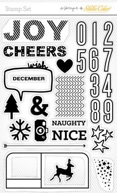 Elise Cripe stamp set included in Studio Calico's December Daily Kit with Ali Edwards. Accepting preorders now! http://www.studiocalico.com/preorder/2013-december-daily-kit  #decdaily #SCdecdaily