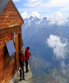 http://BlueChipMoney.com - Stunning #Solvayhütte #Mountainside hut is an emergency rest stop for crazy climbers - #Switzerland Alps!