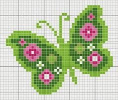 Tina's handicraft : 11 plans for cross stitch embroidery Butterfly Cross Stitch, Cross Stitch Bird, Cross Stitch Animals, Cross Stitch Flowers, Cross Stitch Charts, Cross Stitch Designs, Cross Stitching, Cross Stitch Embroidery, Cross Stitch Patterns