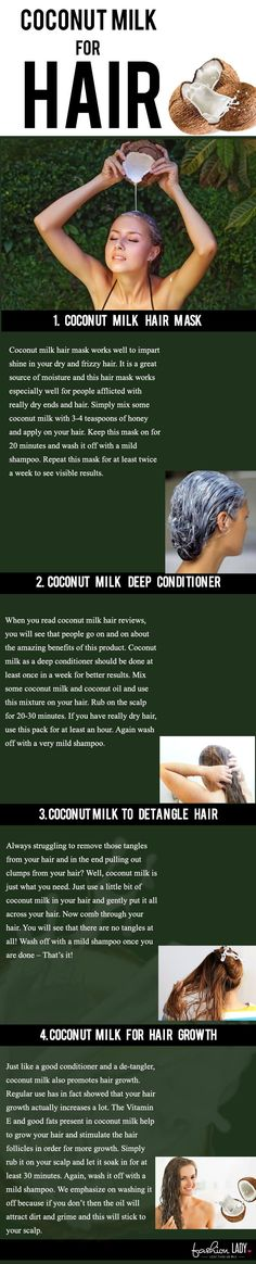 Coconut milk is great for natural hair care. Here is how to make a simple coconut milk hair mask.