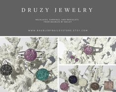 Love the look of Druzy, but don't like the steep price?  We have your solution!  www.BaublebyBaileyStore.Etsy.com