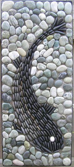 - Decoration Fireplace Garden art ideas Home accessories Mosaic Walkway, Pebble Mosaic, Stone Mosaic, Pebble Art, Mosaic Art, Mosaic Tiles, Rock Mosaic, Diy Garden Decor, Garden Art