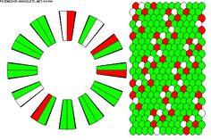 Candy Cane Friendship Bracelets | Free Pattern K4094