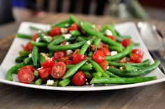 It's official. I am addicted to this salad. Never in a million years would I have envisioned myself craving a salad made with fresh, crisp-tender green beans, feta cheese, bacon, tomatoes and…