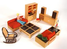 Tomy miniature doll house furniture