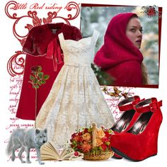 Designer Clothes, Shoes & Bags for Women Movie Outfits, Red Riding Hood, Shoe Bag, Collection, Design, Women, Little Red, Woman