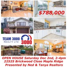 🎈🎈🎈OPEN HOUSES this weekend: Saturday 2-4pm @ 22525 Brickwood Close,Maple Ridge & Sunday 2-4pm @ 6807 Linden Av, Burnaby ... Stop by and say hello to Ned & Tanya Hope to see you there!
