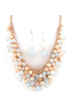 Aspen Blue Bea Cluster Necklace