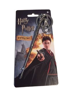 Harry Potter Harry's Wand Metal Key Ring Keychain With Clip New in Pkg #Monogram