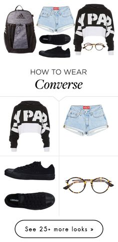 """Untitled #523"" by liveloud8299 on Polyvore featuring Topshop, Converse, Christian Dior and adidas"