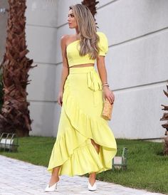 37 Outfits con Faldas Largas en Tendencia para Cualquier Ocasión A Line Prom Dresses, Cheap Prom Dresses, Nice Dresses, Look Fashion, Fashion Outfits, Womens Fashion, Fashion Moda, Different Fabrics, Casual Looks