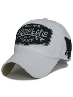 c44909095 Competitive Light Gray Hats online, Gamiss offers you Unique Letter  Sentences Embroidery Adjustable Sunscreen Hat