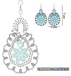 diagram    for    crochet       earrings      Beading   Jewelry      Pinterest