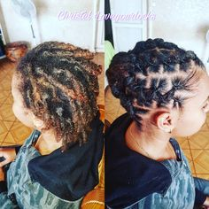 153 Likes, 2 Comments - Coiffeuse Locks Martinique ( on . 153 Likes, 2 Com Short Dread Styles, Kid Braid Styles, Updo Styles, Short Locs Hairstyles, Short Dreads, Cool Hairstyles, Dreadlock Styles, Dreads Styles, Natural Hair Accessories
