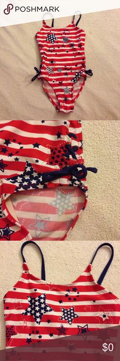🌴NEW LISTING🌴 Joe Boxer Bathing Suit Red, white and blue. Size 4/5. (4/30) Joe Boxer Swim One Piece