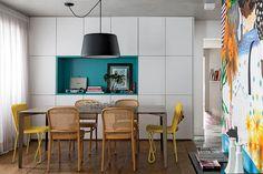 Revista Arquitetura e Construção - Piso colorido é destaque do apartamento