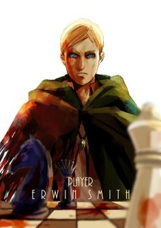 Attack On Titan x CHESS | winni [pixiv] : Erwin, the Player