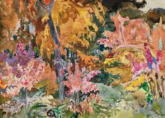 Frederick Varley - Fall Colours Gatineau x Watercolour and graphite on paper Modigliani, Graphite, Watercolour, Colours, Artists, Fall, Paper, Painting, Graffiti