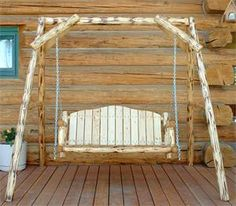 Amish Made Montana Log Furniture A Frame Swing  - check more here: http://ewoodworkingprojects.com/