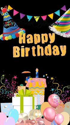 Animated Happy Birthday Wishes, Happy Birthday Greetings Friends, Happy Birthday Wishes Photos, Happy Birthday Black, Happy Birthday Husband, Happy Birthday Wishes Images, Happy Birthday Video, Happy Birthday Celebration, Birthday Wishes Funny