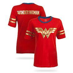 Wonder Woman Hockey Stripe Babydoll