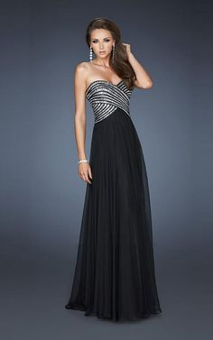 Long Black and Silver Bridesmaid dress. Need in royal blue instead of black