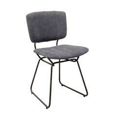Modern Black Canvas Dining Chair Iometro Metal Fabric Inspireon