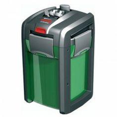 Anschlussfertiger, energieeffizienter und geräuscharm arbeitender Außenfilter für Aquarien bis 350 l. Inklusive aller benötigten Filtermedien.