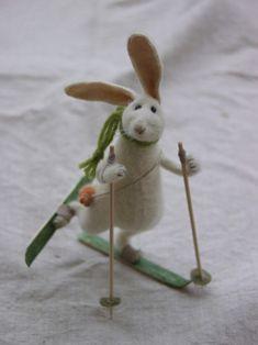 Кролик,валяные вещи