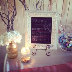 Courtney + Mason | 6.27.14 | Wedding ceremony and reception at Willow Creek | Chalk board sign