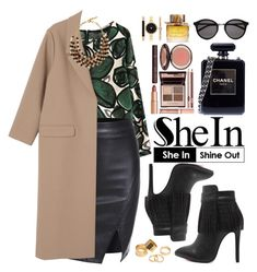 """""""Shein"""" by oshint ❤ liked on Polyvore featuring moda, Monki, Chanel, Charlotte Tilbury, Etro, Yves Saint Laurent, Burberry, Style & Co., Pieces i women's clothing"""