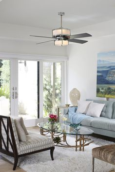 Complete your remodel with a new modern ceiling fan that goes with any style of decor.