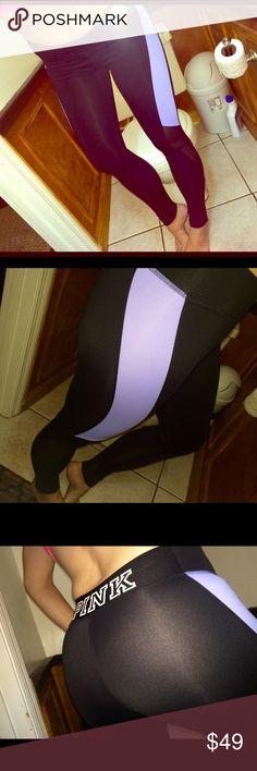 ULT mesh YOGAS sz Xs Ultimate.. Lavender and mesh stripe.. Xs PINK Victoria's Secret Pants Leggings