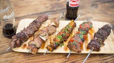 With the Ultimate Braai Master Season Game On journey over, you can try the teams' recipes at your next braai. Try these delicious kebab recipes. Braai Recipes, Kebab Recipes, Lamb Ribs, South African Recipes, Kebabs, Steak, Bbq, Pork, Cooking