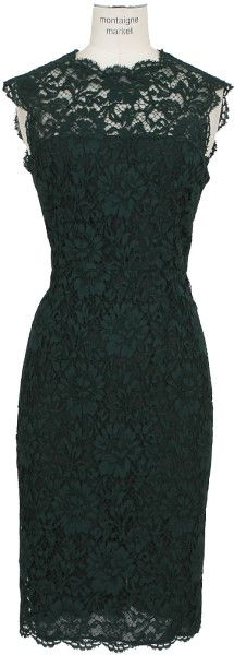 Valentino Green Lace Dress in Green
