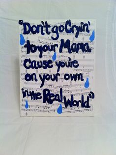 Made by Kelly! Hand Painted canvas Original Art of popular by PaintedPopLyrics, $20.00