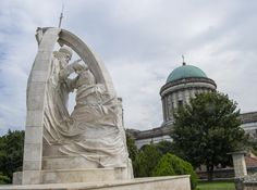 St. Stephen's Coronation sculpture, Esztergom | King Saint Stephen was the last Grand Prince of the Hungarians between 997 and 1000 or 1001, and the first King of Hungary from 1000 or 1001 until his death in 1038.  Stephen I is a popular saint in Hungary and the neighboring territories. In Hungary, his feast day (celebrated on 20 August) is also a public holiday commemorating the foundation of the state.  Information from Wikipedia