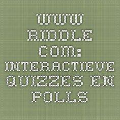 www.riddle.com: interactieve quizzes en polls