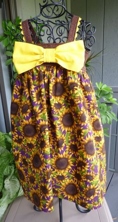Little girls sunflower jumper by EmelineDesign on Etsy