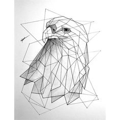 eagle geometric drawing - חיפוש ב-Google                                                                                                                                                     More